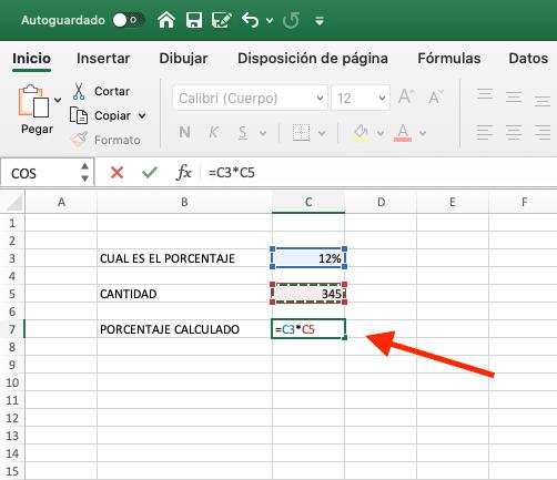 como calcular porcentaje